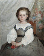 Portrait de Romaine Lacaux 1864 By Pierre Auguste Renoir