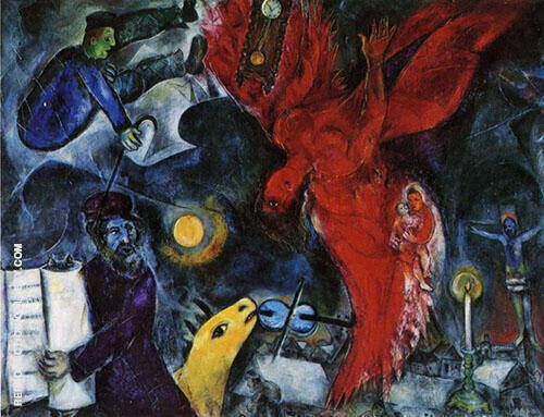 The Falling angel 1923 Painting By Marc Chagall - Reproduction Gallery