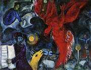 The Falling angel 1923 By Marc Chagall