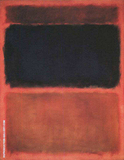 Tan and Black on Red Painting By Mark Rothko - Reproduction Gallery