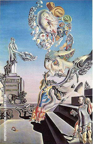 The Lugubrious Game 1929 Painting By Salvador Dali - Reproduction Gallery