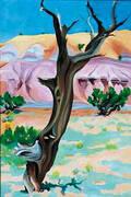 Cedar Tree with Lavender Hills, 1937 By Georgia O'Keeffe