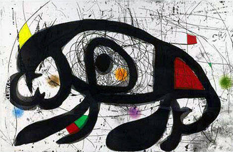 The Laughing Mole 1975 Painting By Joan Miro - Reproduction Gallery