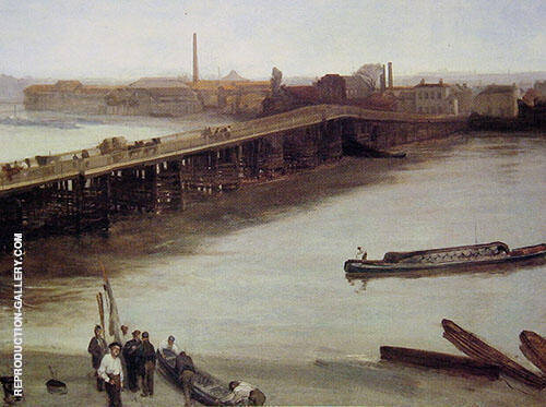 Brown and Silver: Old Battersea Bridge 1859 By James McNeill Whistler