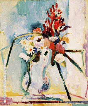Flowers in a Pitcher 1906 By Henri Matisse