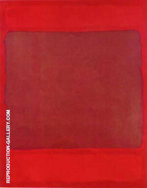 Untitled 1959 Red and Brown Painting By Mark Rothko - Reproduction Gallery