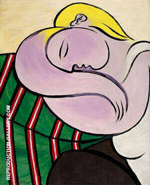Woman with Yellow Hair [Femme aux cheveux jaunes] 1931 By Pablo Picasso