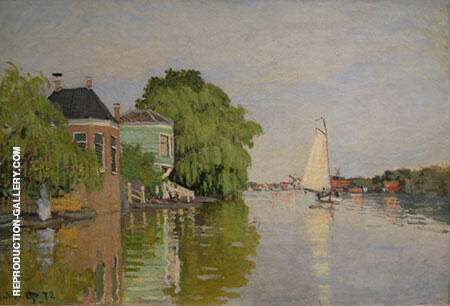 Landscape near Zaandam 1871 By Claude Monet Replica Paintings on Canvas - Reproduction Gallery