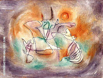 Reproduction of Howling Dog by Paul Klee | Oil Painting Replica On CanvasReproduction Gallery