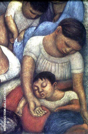 Night of the Poor Painting By Diego Rivera - Reproduction Gallery