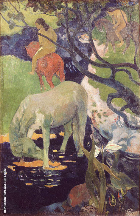 The White Horse 1898 By Paul Gauguin Replica Paintings on Canvas - Reproduction Gallery