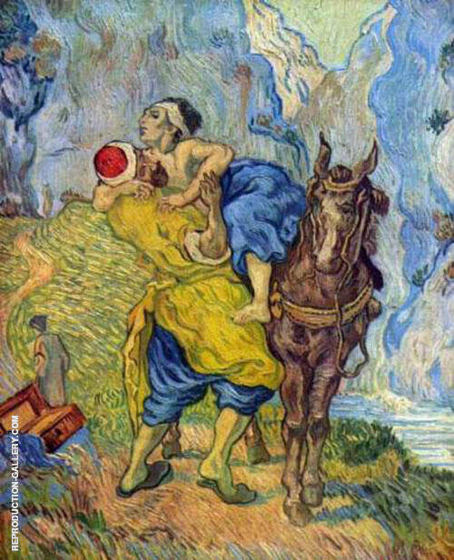 The Good Samaritan after Delacroix 1890 By Vincent van Gogh