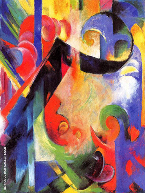 Broken Forms 1914 Painting By Franz Marc - Reproduction Gallery