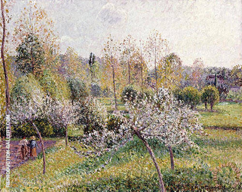 Flowering Apple Trees, Eragny 1895 (Pommiers en Fleurs Eragny) By Camille Pissarro