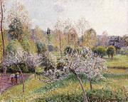 Flowering Apple Trees, Eragny 1895 (Pommiers en Fleurs Eragny) By Camille Pissarro