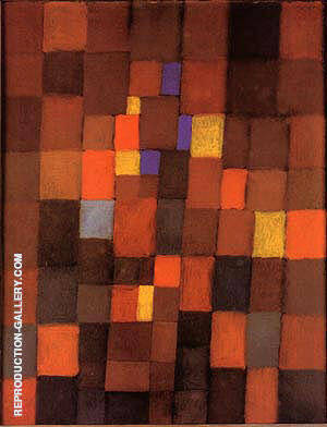 Pictorial Architecture (Red, Yellow, Blue) 1923 By Paul Klee - Oil Paintings & Art Reproductions - Reproduction Gallery