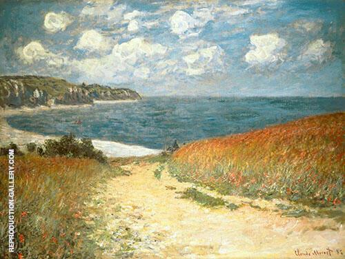 Chemin dans les bles a Pourville 1882 By Claude Monet
