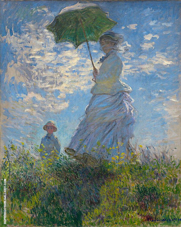 Madame Monet and her Son 1875 Painting By Claude Monet