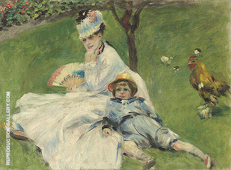 Madame Monet and Her Son 1874 By Pierre Auguste Renoir