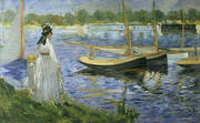 The Banks of the Seine at Argenteuil 1874 By Edouard Manet