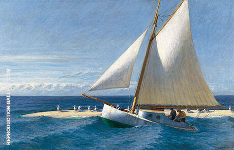 The Martha McKean of Wellfleet 1944 By Edward Hopper - Oil Paintings & Art Reproductions - Reproduction Gallery