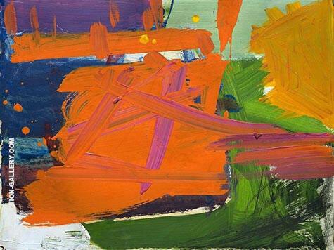 Untitled 1957 By Franz Kline