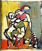 Small Seated Figure 1947 By Franz Kline