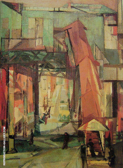 Chatham Square 1948 Painting By Franz Kline - Reproduction Gallery
