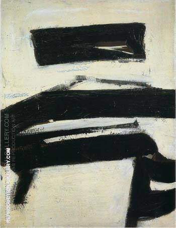 Reproduction of Black and White 1951 by Franz Kline | Oil Painting Replica On CanvasReproduction Gallery