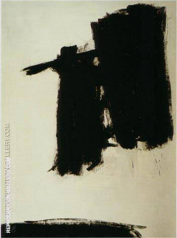Reproduction of Untitled 1960 by Franz Kline | Oil Painting Replica On CanvasReproduction Gallery