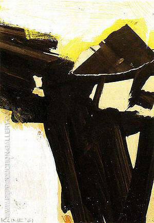 Untitled Study for Sabro IV 1961 By Franz Kline - Oil Paintings & Art Reproductions - Reproduction Gallery