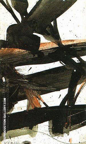 Study for Horizontal Rust 1960 By Franz Kline