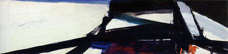 Reproduction of Study for Washington Wall Painting 1959 by Franz Kline | Oil Painting Replica On CanvasReproduction Gallery