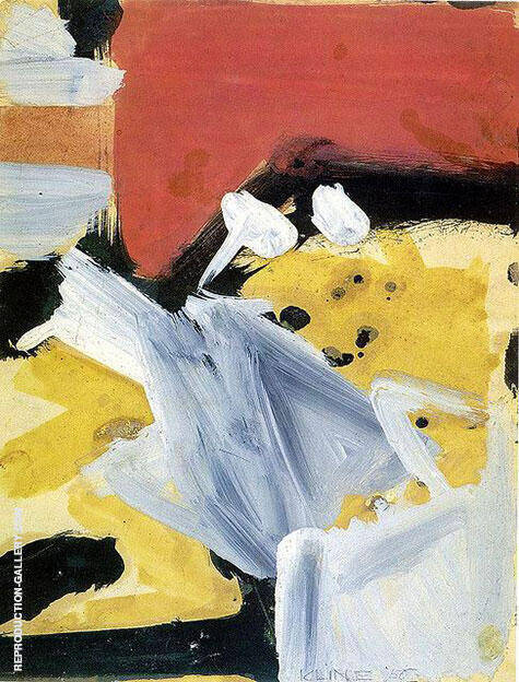 Untitled 1956 Painting By Franz Kline - Reproduction Gallery