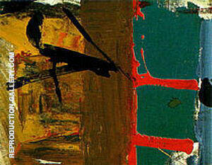 Green Red and Brown 1955 By Franz Kline Replica Paintings on Canvas - Reproduction Gallery