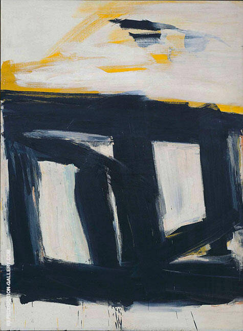 Zinc Door 1961 By Franz Kline Replica Paintings on Canvas - Reproduction Gallery