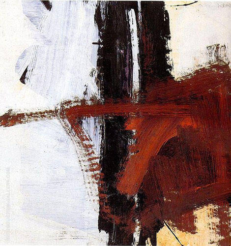 Untitled 1961 1 By Franz Kline - Oil Paintings & Art Reproductions - Reproduction Gallery