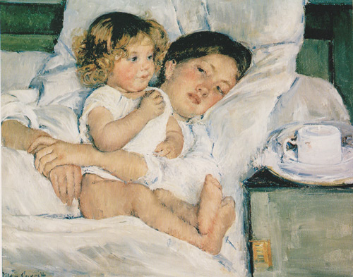 Breakfast in Bed 1897 By Mary Cassatt Replica Paintings on Canvas - Reproduction Gallery