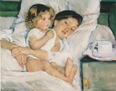 Breakfast in Bed 1897 By Mary Cassatt