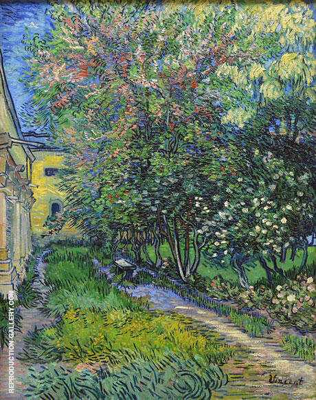 The Garden of the Asylum St Remy 1889 By Vincent van Gogh Replica Paintings on Canvas - Reproduction Gallery