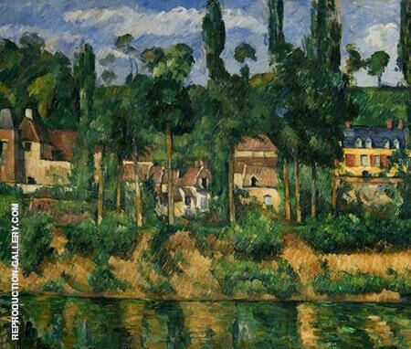 The Chateau de Medan 1879 By Paul Cezanne - Oil Paintings & Art Reproductions - Reproduction Gallery