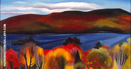 Lake George Autumn 1927 Painting By Georgia O'Keeffe
