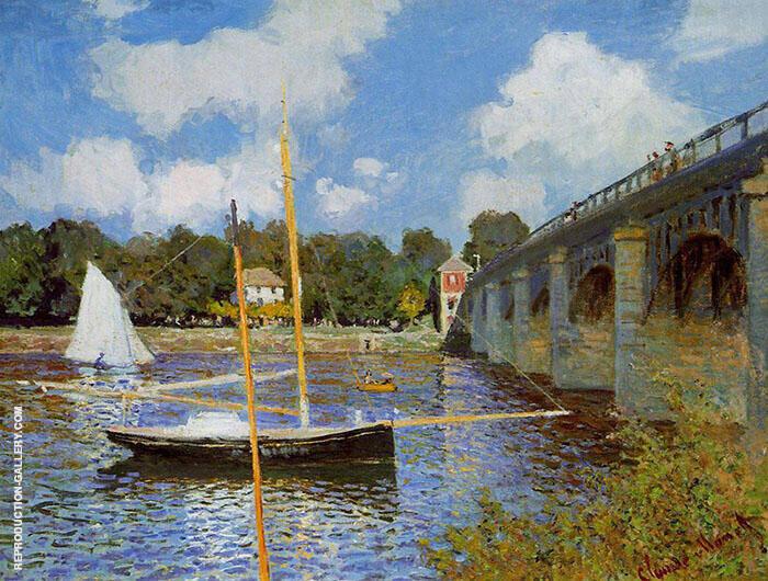Road Bridge at Argenteuil By Claude Monet