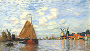 The Zaan at Zaandam 1871 By Claude Monet
