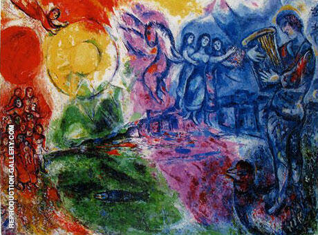 Orpheus 1969 By Marc Chagall