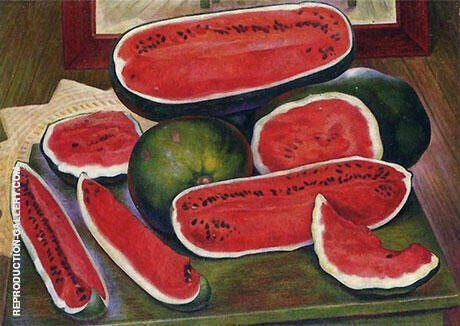 The Watermelons 1957 Painting By Diego Rivera - Reproduction Gallery