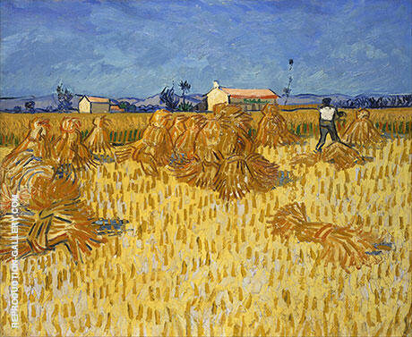 Harvest in Provence 1888 By Vincent van Gogh