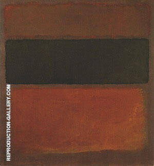No 10 Black Sienna On Dark Wine 1963 By Mark Rothko
