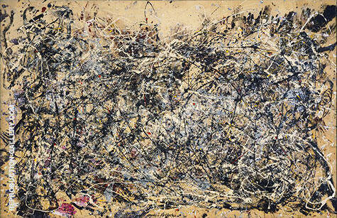 Number 1 1948 also known as 27 By Jackson Pollock (Inspired By)