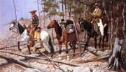 Prospecting for Cattle Range 1889 By Frederic Remington